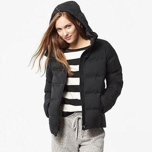 Uniqlo seamless down hooded black jacket XL